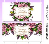 vintage delicate invitation... | Shutterstock .eps vector #339736463