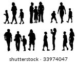 vector drawing of parents with... | Shutterstock .eps vector #33974047