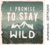 hand drawn wilderness ... | Shutterstock .eps vector #339742643