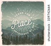 drawn wilderness  exploration... | Shutterstock .eps vector #339742664
