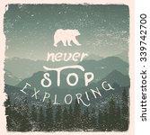 hand drawn wilderness ... | Shutterstock .eps vector #339742700