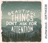 hand drawn wilderness ... | Shutterstock .eps vector #339744338