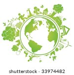 environmental vector concept... | Shutterstock .eps vector #33974482