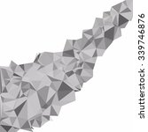 gray white polygonal background ... | Shutterstock .eps vector #339746876