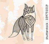 Zentangle Vector Fox  Tattoo I...