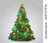 Stock vector christmas tree 339757976