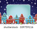 santa claus sleigh with... | Shutterstock . vector #339759116