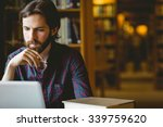 hipster student studying in... | Shutterstock . vector #339759620