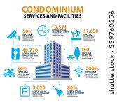 hotel condominium and home... | Shutterstock .eps vector #339760256