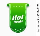 hot deals green vector icon... | Shutterstock .eps vector #339762170