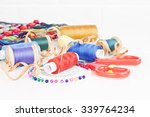 accessories for sewing | Shutterstock . vector #339764234