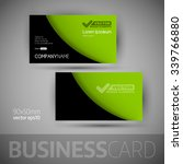 business card template with... | Shutterstock .eps vector #339766880
