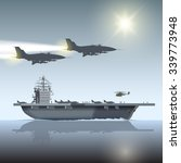 Aircraft Carrier And Flying...