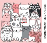 vector collection of cute... | Shutterstock .eps vector #339778358