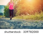 attractive young female jogging ...   Shutterstock . vector #339782000
