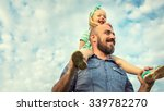 adorable daughter and father... | Shutterstock . vector #339782270