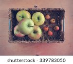 apples and small paradise... | Shutterstock . vector #339783050