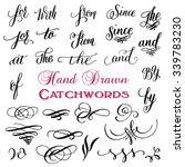 hand drawn elegant ampersands... | Shutterstock .eps vector #339783230