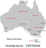 gray australia map with regions ... | Shutterstock .eps vector #33978346