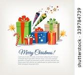 christmas new year birthday...   Shutterstock .eps vector #339784739