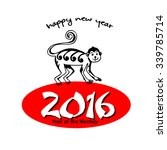 happy new year. year of the... | Shutterstock .eps vector #339785714