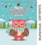 vintage christmas poster design ...   Shutterstock .eps vector #339789476