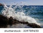 Big Waves On Rocky Coast And...