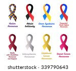 awareness ribbons set  autism ... | Shutterstock .eps vector #339790643