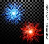 set of techno style vector... | Shutterstock .eps vector #339792080