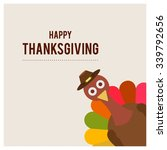 cute turkey bird and colorful... | Shutterstock .eps vector #339792656