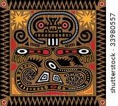 vector aztec tribal pattern in... | Shutterstock .eps vector #33980557
