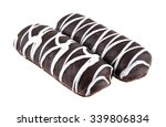 chocolate with glaze isolated... | Shutterstock . vector #339806834