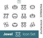 jewel outline thin modern...   Shutterstock .eps vector #339806966