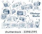 hand drawn vector radios | Shutterstock .eps vector #33981595