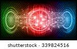 dark blue color light abstract... | Shutterstock .eps vector #339824516