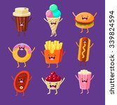 fun fast food. dishes with cute ...