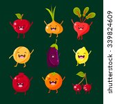 cheerful fruit and vegetables.... | Shutterstock .eps vector #339824609