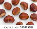 Texture Of Many Chestnuts On...