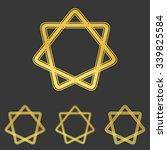 golden loop star logo icon...