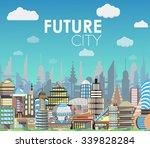 Future City Landscape Cartoon...