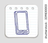 doodle mobile phone icon. blue... | Shutterstock .eps vector #339830003