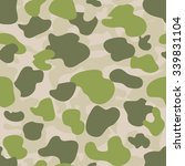 military camouflage textile... | Shutterstock .eps vector #339831104