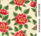 floral seamless pattern with... | Shutterstock .eps vector #339833006
