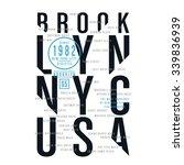 athletic sport new york...   Shutterstock .eps vector #339836939