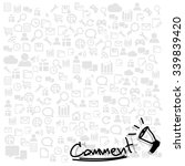 comment  hand drawn on... | Shutterstock .eps vector #339839420