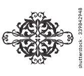 vintage baroque frame scroll... | Shutterstock .eps vector #339842948