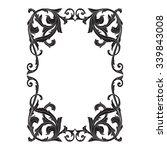 vintage baroque frame scroll...   Shutterstock .eps vector #339843008