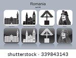 landmarks of romania. set of...   Shutterstock .eps vector #339843143