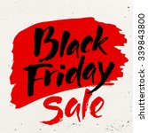 black friday calligraphy.... | Shutterstock .eps vector #339843800
