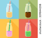 juice in a bottle icon set.... | Shutterstock .eps vector #339844208
